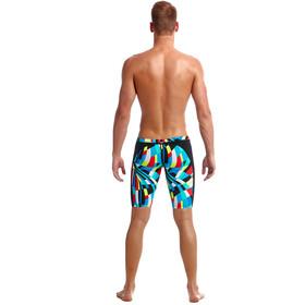 Funky Trunks Caleçon de natation Homme, block chain